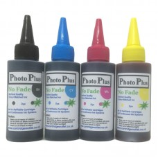 A Set of 4 x 100ml Bottle of Archival Dye based Ink Compatible with Brother printer models.