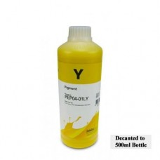 500ml of InkTec K3 Wide Format Ink Yellow.